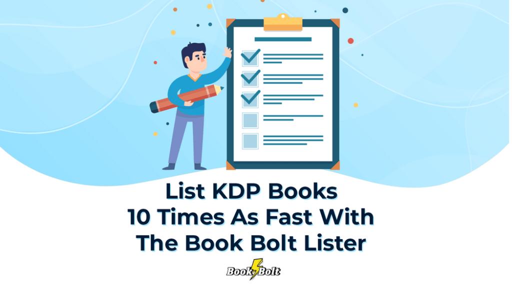 List KDP books fast