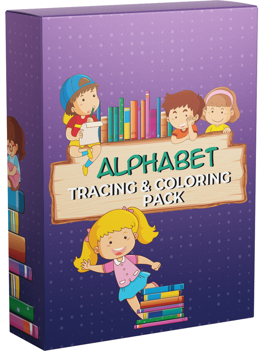 Alphabet Tracing and Coloring Pack