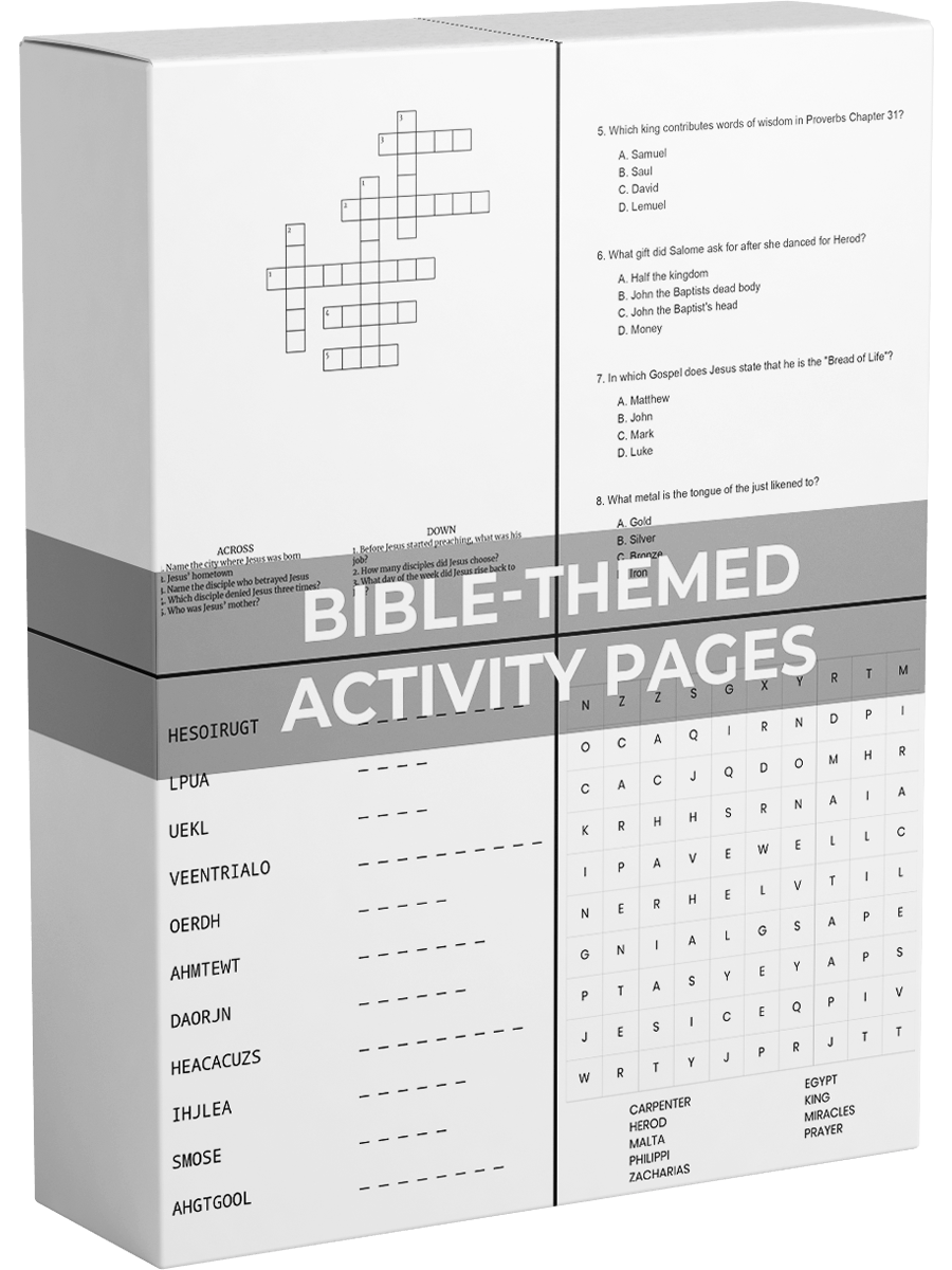 Bible Themed Activities