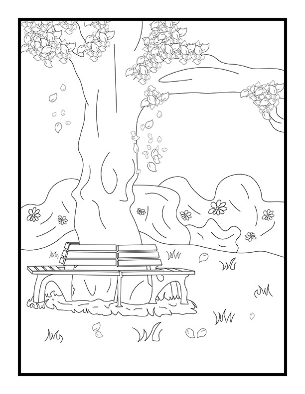 Border Backgrounds Dog Coloring Book