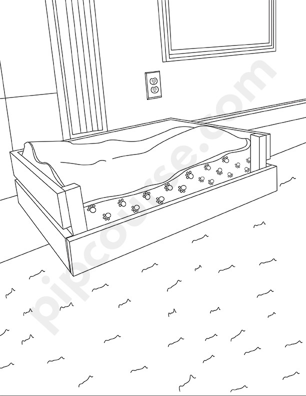 Dogs Coloring Pages Background