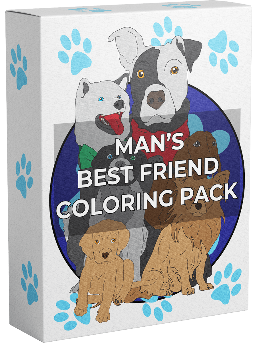 Mans Best Friend Coloring Pack