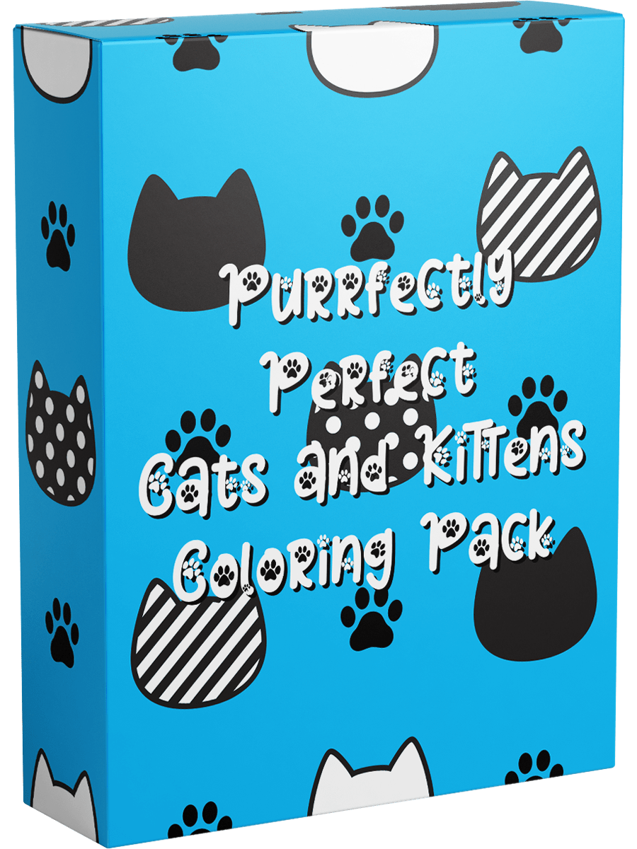 Cats and Kittens Coloring Pack